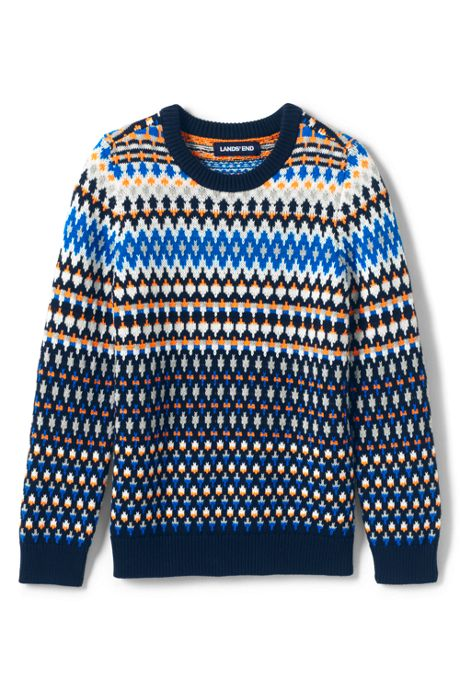 Little Boys Fairisle Crewneck Sweater