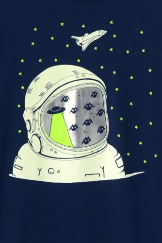 Boys Glow In The Dark Graphic T Shirt