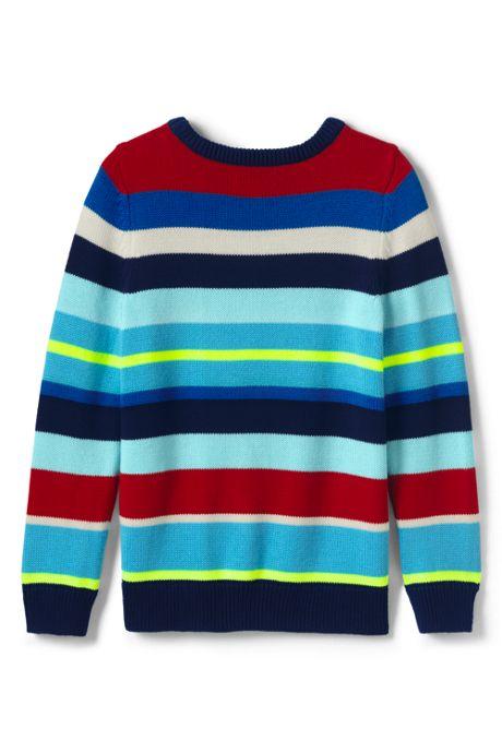 Boys Multi Stripe Crewneck Sweater
