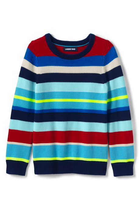 Boys Multi Stripe Crewneck Sweater