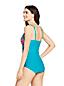 Gemusterter Shape-Badeanzug mit V-Ausschnitt SLENDER