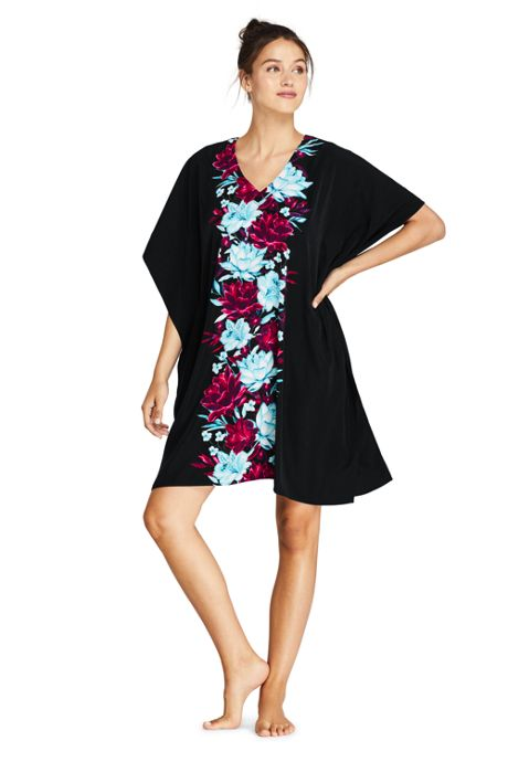 Women's V-Neck Kaftan Swim Cover-up Dress Print