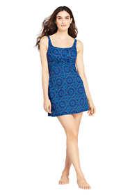 Women's Slender Tummy Control Chlorine Resistant Underwire Swim Dress One Piece Swimsuit Print