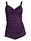 Women's Plus V-neck Tunic Slender Swimsuit
