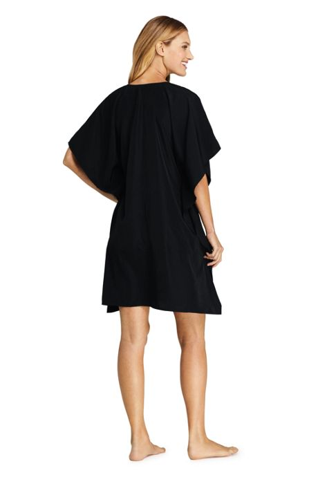 Women's V-Neck Embroidered Kaftan Swim Cover-up Dress