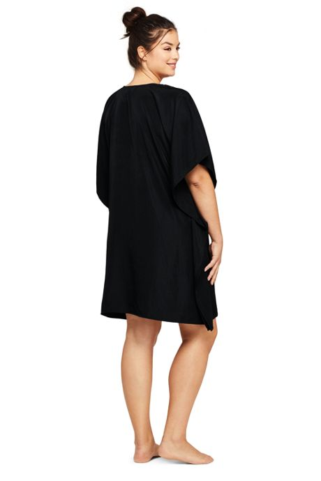 Women's Plus Size V-Neck Embroidered Kaftan Swim Cover-up Dress