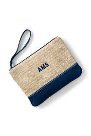Medium Straw Zipper Pouch
