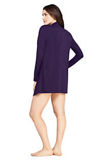 Women's UPF 50 Sun Protection Waterfall Cardigan Swim Cover-up, Back