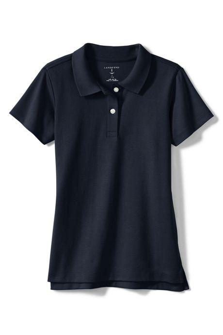 Girls Feminine Fit Short Sleeve Interlock Polo