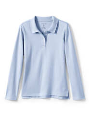 Little Girls Feminine Fit Long Sleeve Interlock Polo