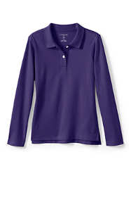Girls Feminine Fit Long Sleeve Interlock Polo
