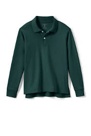 Little Kids Long Sleeve Interlock Polo