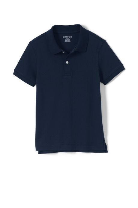 Little Kids Short Sleeve Tailored Fit Interlock Polo