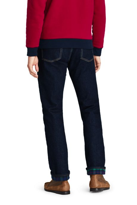 Men's Straight Fit Comfort-First Flannel Lined Jeans