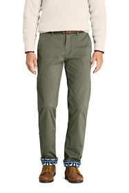 Men's Straight Fit Flannel Lined Comfort-First Knockabout Chino Pants