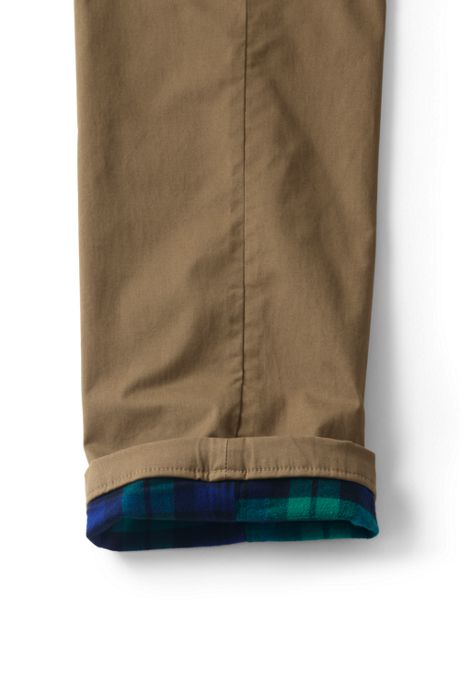 Men's Comfort Waist Flannel Lined Comfort-First Knockabout Chino Pants