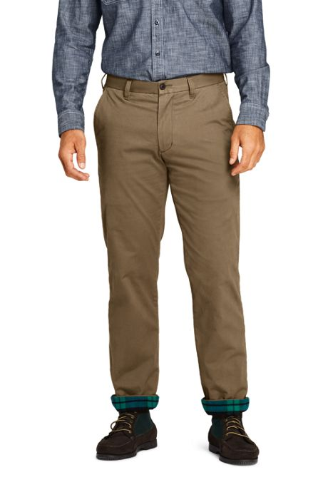 Men's Traditional Fit Flannel Lined Comfort-First Knockabout Chino Pants