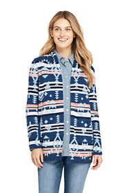 Women's Cotton Open Long Cardigan Sweater - Print
