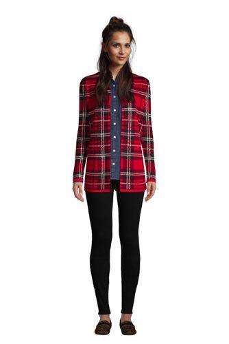 Women's Cotton Open Long Cardigan Sweater - Pattern