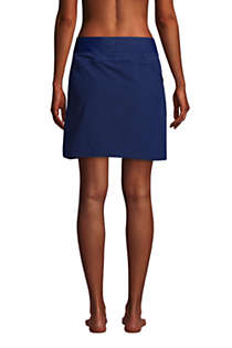 Women's Quick Dry Elastic Waist Active Skort Swim Skirt, Back