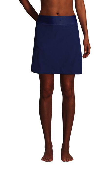 Women's Quick Dry Elastic Waist Active Skort Swim Skirt