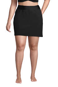 Women's Plus Size Quick Dry Elastic Waist Active Skort Swim Skirt