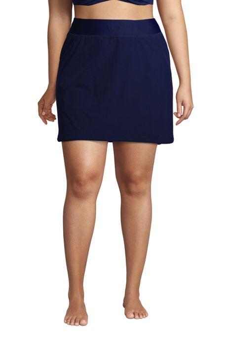 Women's Plus Size Quick Dry Elastic Waist Active Board Skort Swim Skirt
