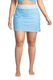 Women's Plus Size Quick Dry Elastic Waist Active Board Skort Swim Skirt