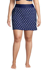 Women's Plus Size Quick Dry Elastic Waist Active Skort Swim Skirt Print