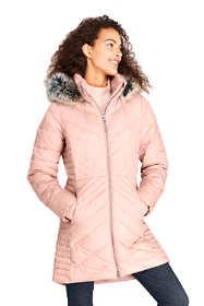 Women's Petite Insulated Plush Lined Winter Coat
