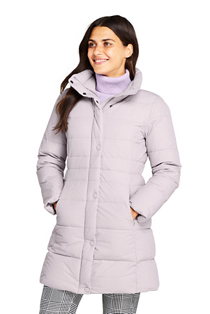 Daunenmantel mit Stretch für Damen | Lands' End