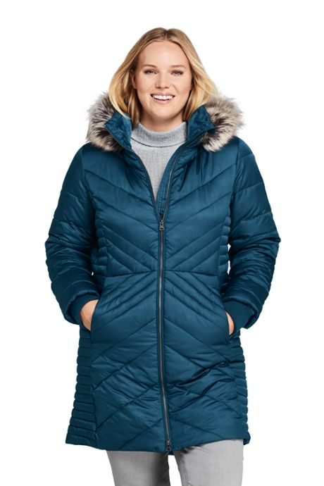 Women's Petite Insulated Plush Lined Winter Coat