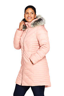 Women's Insulated Plush Lined Winter Coat with Faux Fur Hood, alternative image