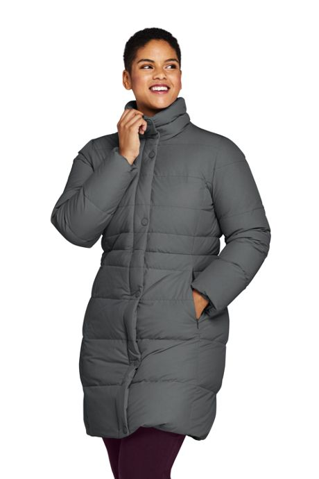 Women's Plus Size Stretch Long Down Coat