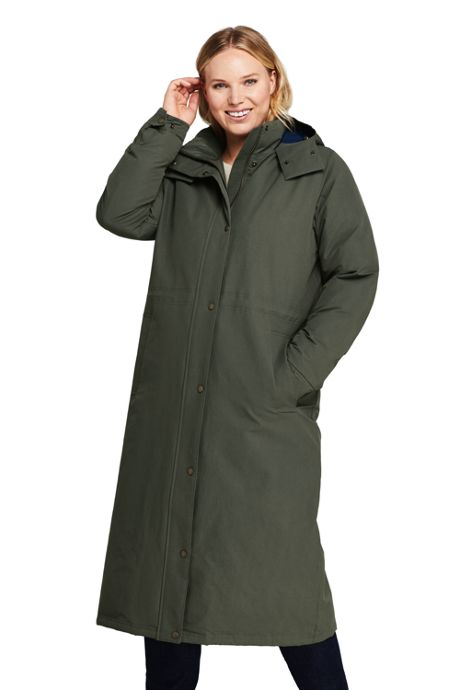 Women's Plus Size Commuter Insulated Long Coat