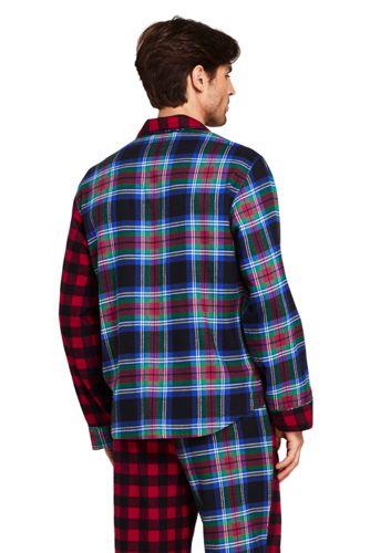 Men's Colorblock Flannel Pajama Shirt