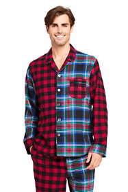 Men's Colorblock Flannel Pajama Shirt