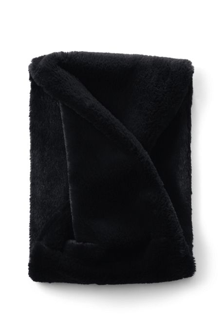 Women's Faux Fur Short Winter Infinity Scarf