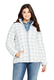 Women's Plus Size Print Cozy Sherpa Fleece Jacket