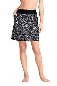 Women's Quick Dry Elastic Waist Active Skort Swim Skirt Print