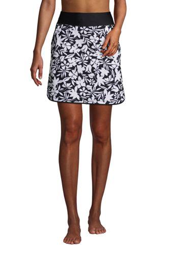 Jupe de Bain Taille Confort Shorty Intégré, Femme Stature Standard