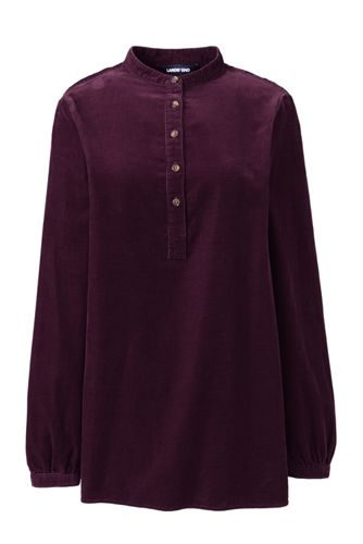 Women's Baby Cord Tunic Blouse