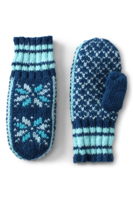 Women's Knit Fairisle Winter Mittens