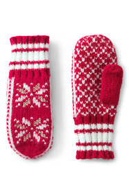 Women's Knit Fairisle Winter Mittens
