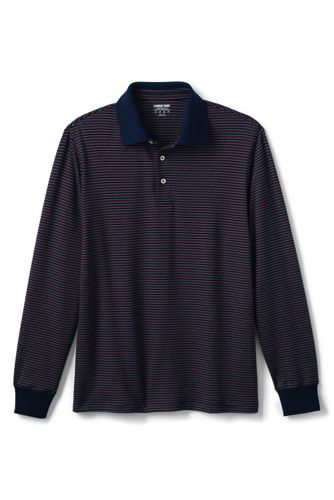 Polo Supima Strech à Rayures Coupe Classique, Homme Stature Standard