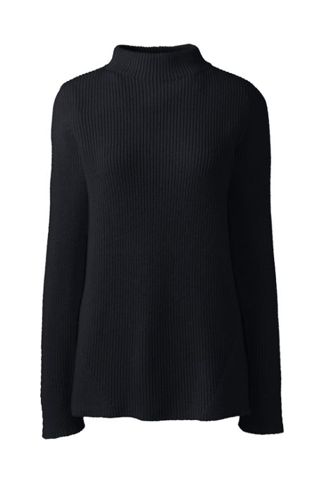 Women's Cotton Wool Blend Mock Neck Sweater
