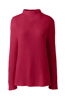 Women's Shaker Knit Funnel Neck Jumper