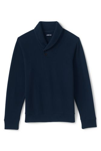 Men's Brushed Rib Shawl Collar Jumper