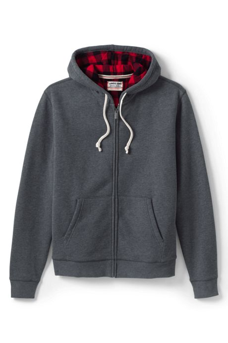 Men's Serious Sweats Flannel Lined Full Zip Hoodie