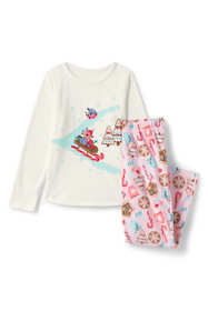 Toddler Girls Graphic Fleece Pajama Set